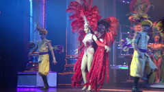 Transsexuals performs dancing at the Alcazar show Stock Footage