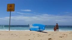 BONDI BEACH LIFEGARD, SYDNEY, AUSTRALIA Stock Footage