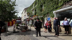 WINSTON CHURCHILL LOOK ALIKE LEYBURN NORTH YORKSHIRE - stock footage