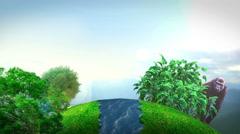 3D Sphere Landscape VBHD0003 Stock Footage
