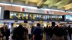 Euston Railway Station, London 14 Stock Footage