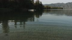 Beautiful Lake Reveal Stock Footage