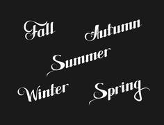 Vector typographic illustration of handwritten seasons of the year (Winter Stock Illustration