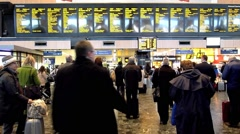Euston Railway Station, London 15 Stock Footage