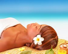 relaxation on spa resort - stock photo