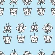 Stock Illustration of vector seamless background. wallpaper with a repeating pattern of flowers in