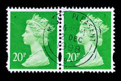 United kingdom - circa 1998: an english used first class postage stamp showin Stock Photos