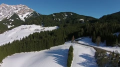 Austria Alps aerial view Stock Footage