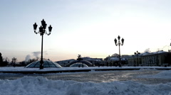 Manege Square at night in winter (st) Stock Footage