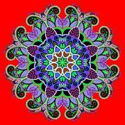 Stock Illustration of circle decorative spiritual indian symbol of lotus flower