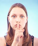 Mysterious teen girl Stock Photos