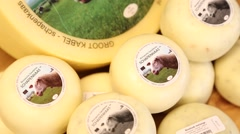 Sheep cheese from a farm in Netherlands Stock Footage
