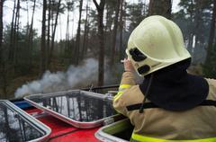heath fire - stock photo