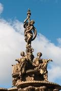 ross fountain statue,  edinburgh - stock photo