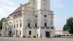 The Town Hall of Kaunas in the Town Hall Square in summer day Stock Footage