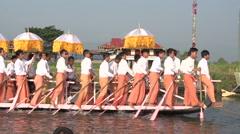 Phaung Daw Oo Pagoda Festival on Inle lake Stock Footage