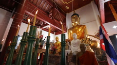 Wat jetrin Temples in Chiang MaiThai country Stock Footage