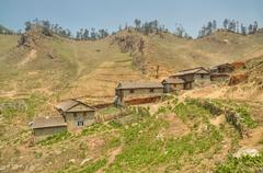 Nepalese village Stock Photos