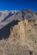 Fortress ruins in tajikistan Stock Photos