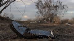 Desert - Lost Shoe Stock Footage