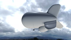 Surveillance blimp in sky Stock Footage