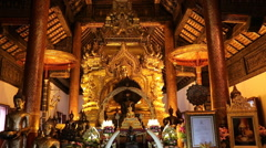 Wat Phra that SI Chom thong Temples in Chiang Mai Thai country Stock Footage