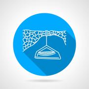 Flat vector icon for hanging camp - stock illustration