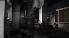 Abandoned factory : Industrial kitchen for workers Stock Footage