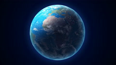 An animated seamless loop of a rotating Earth. 4k resolution computer generated Stock Footage