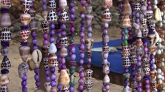Shell Necklaces close up Stock Footage