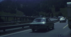 Traffic 16mm Austria Brenner BMW 70s 16mm Stock Footage