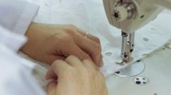 Sewing Machine Clean Look Stock Footage