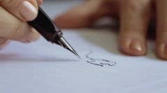 Hands Drawing Close Up Stock Footage