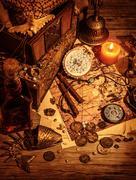 Pirates treasure still life Kuvituskuvat