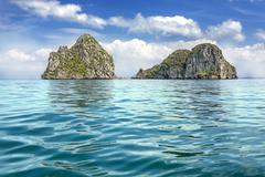 Tropical uninhabited islands on andaman sea, krabi province, thailand. Stock Photos