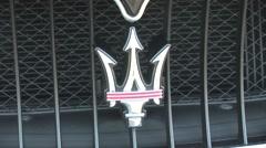 Maserati badge Stock Footage