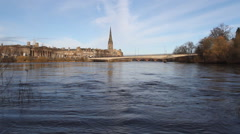 Timelapse of Perth waterfront Scotland Stock Footage