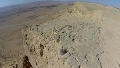 Mitzpe Ramon Crater in negev desert, Israel. Stock Footage