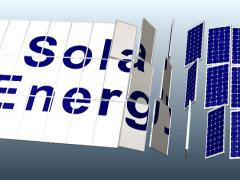 Solar Panel plant with title for presentation, 3rd angle DV_NTSC Stock Footage