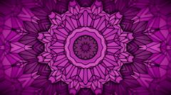 Hand drawn geometric kaleidoscope pattern animation Stock Footage
