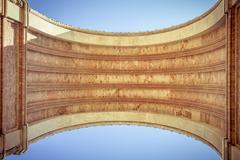 Arc de triomf, barcelona, extreme worm's eye view Stock Photos