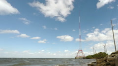 Radio Tower Time Lapse Stock Footage