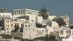 Greece, Naxos, Whitewashed Buildings - stock footage