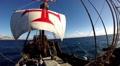 Santa Maria de Colombo classic sailing boat tour panning Footage
