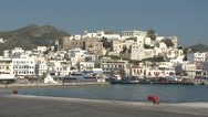 Stock Video Footage of Greece, Naxos, Waterfront