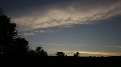 Contrail cloud during dusk Stock Footage