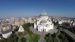 Aerial footage Belgrade Church of Saint Sava.mp4 Stock Footage