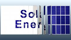 Solar Panel plant with title for presentation HD_PAL Stock Footage