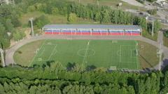 Aerial shot big football stadium  UHD 4K Stock Footage