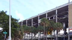 Miami herald building demolition 4k Stock Footage